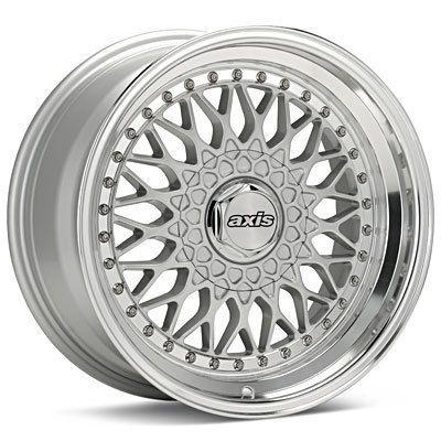 17 Axis Klassic Black Polish Lip Wheels Rims Fit VW Cabrio Passat