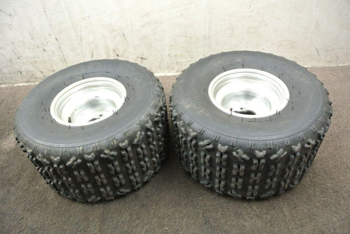 2004 04 Yamaha YFZ450 YFZ 450 Rear Wheel Set Rims Tire Wheels
