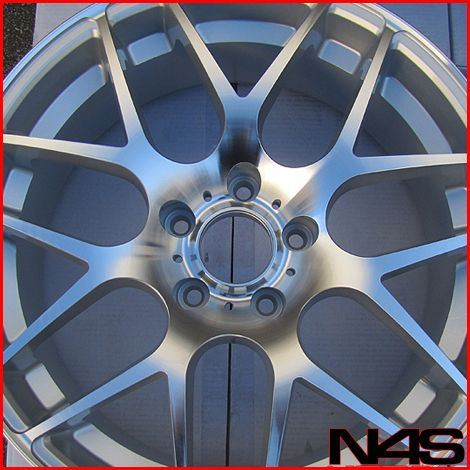 E93 328 335 3 Series Coupe Concave Silver Staggered Wheels Rims