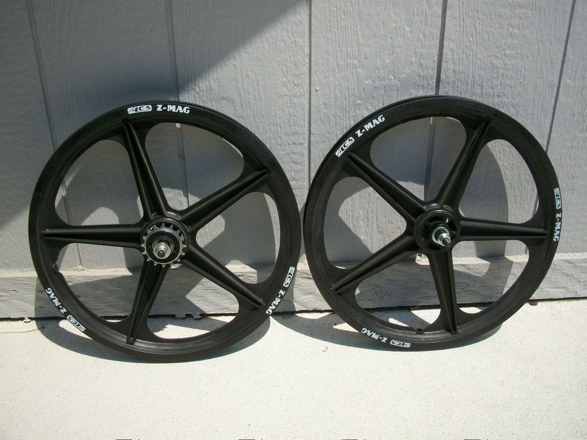 New 20 ACS Z Mags BMX Front Rear Wheel Set Rims Black