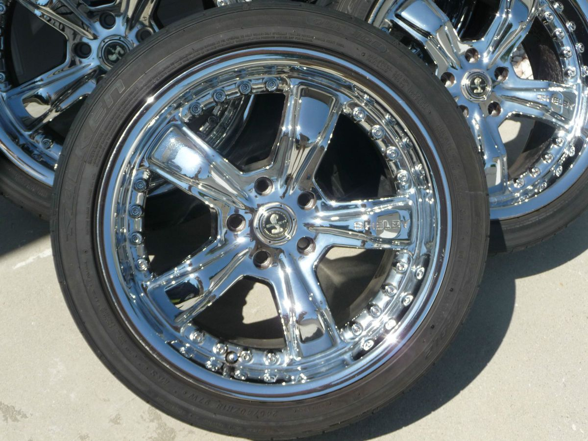 inch 18x9 Ford Mustang GT Shelby Chrome Rims Wheels with Tires