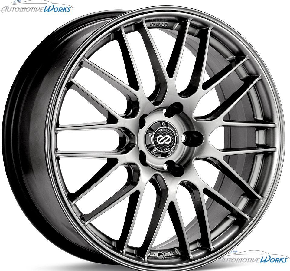 18x8 Enkei EKM 3 5x114.3 5x4.5 +40mm Hyper Silver Rims Wheels Inch 18