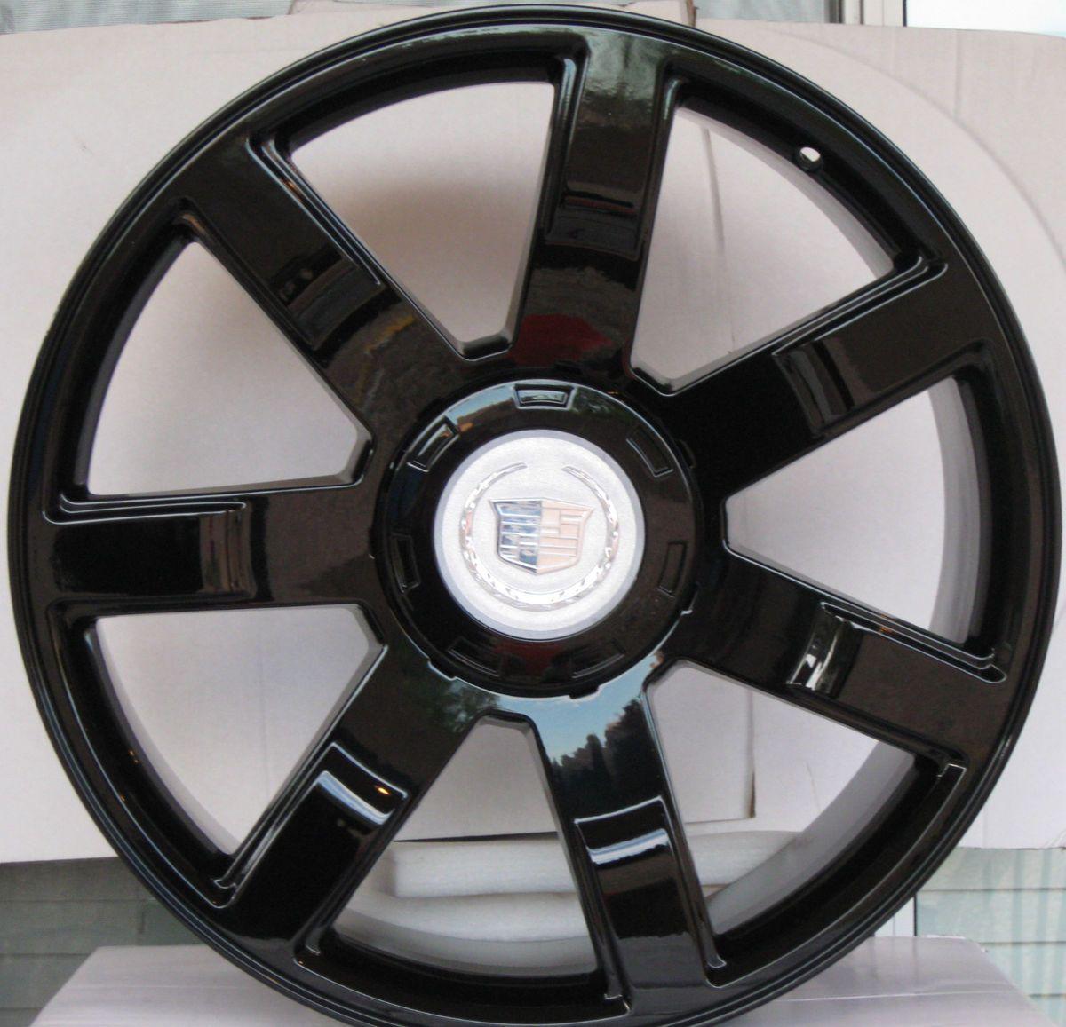 24 Cadillac Escalade Wheels Rims Phantom Black Finish 22