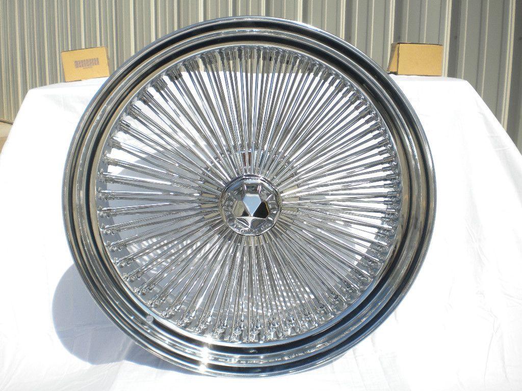 16 Dayton Chrome 16x7 Wire Wheels Full Set Rims New Rear Wheel Drive