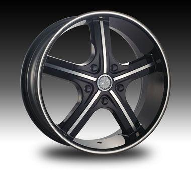 22 inch U2 55 Black Machine Wheels Tires Fit Chevy 6 Lug Chrysler 300