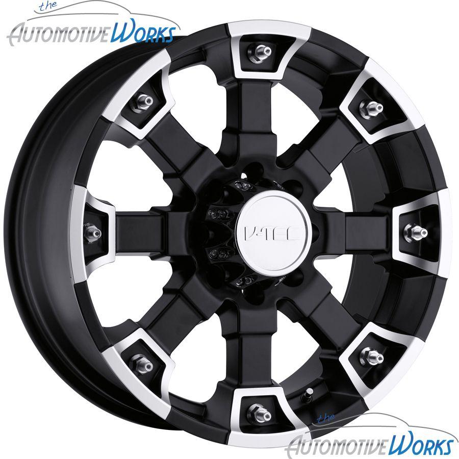 Tec Brutal 8x165 1 8x6 5 0mm Matte Black Wheels Rims inch 17