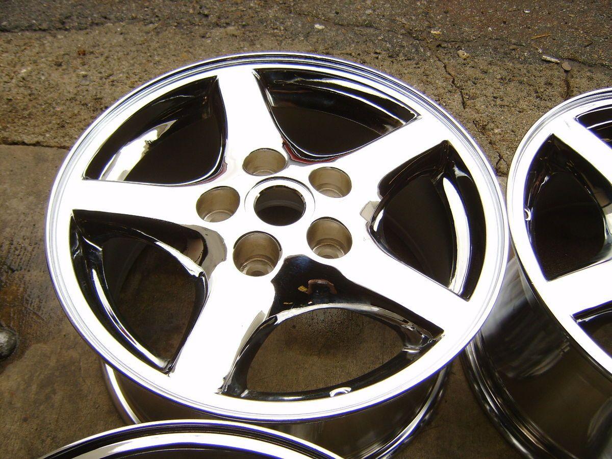 01 02 Camaro Firebird Trans Am 16 chrome alloy wheels rims 16x8 5x4 75