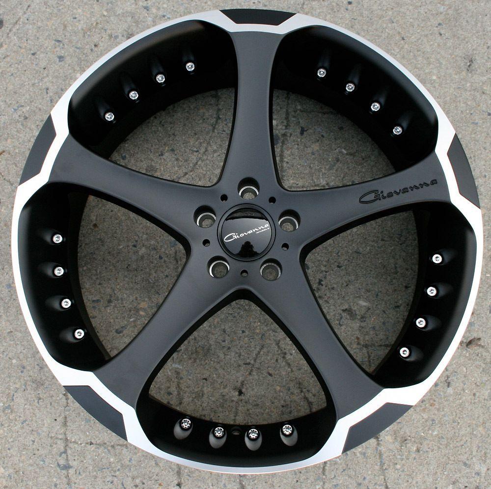 Giovanna Dalar 5 22 Black Rims Wheels Chrysler 300 300C AWD 22 x 9 0