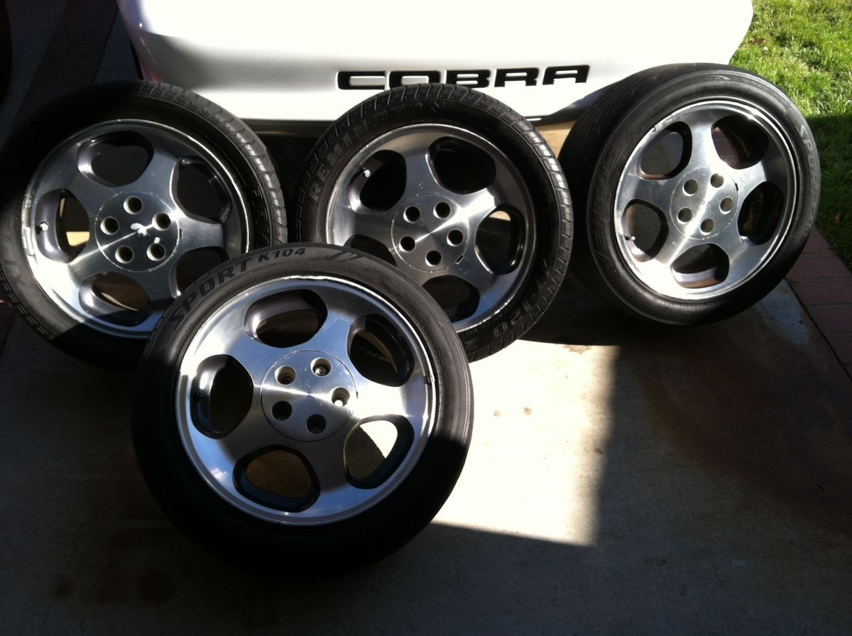 1994 98 17x8 Ford Mustang SVT Cobra Original Wheels with Tires