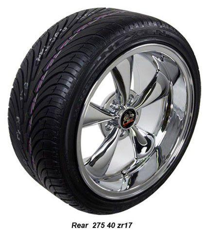 17 9 10 5 Chrome Bullitt Wheels Nexen Tires Rims Fit Mustang® 94
