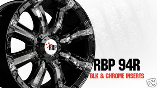 94R 18 inch 18x10 BLACK Offroad DODGE CHEVY FORD Truck RIMS Wheels SET