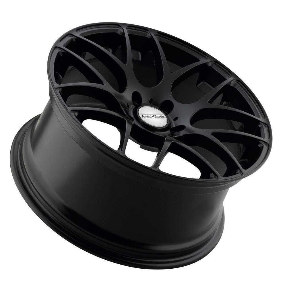 18 Avant Garde M310 Matte Black Wheels Rims Fit Volkswagen Passat VW