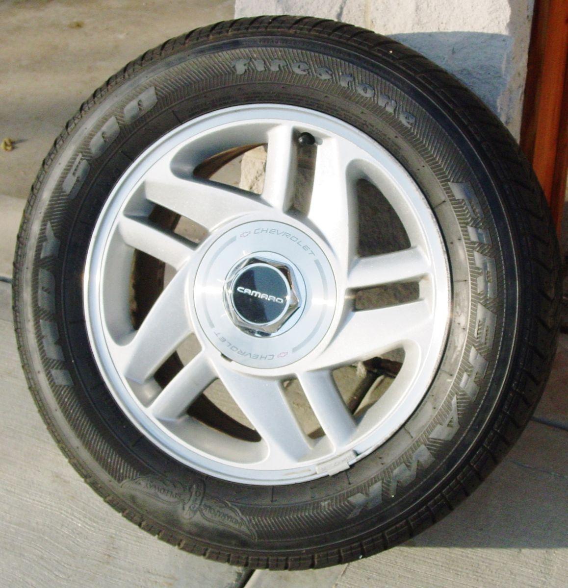 SET of 4 93 96 Chevrolet Camaro OEM 16x8 Wheels Tires 5 Double Spoke