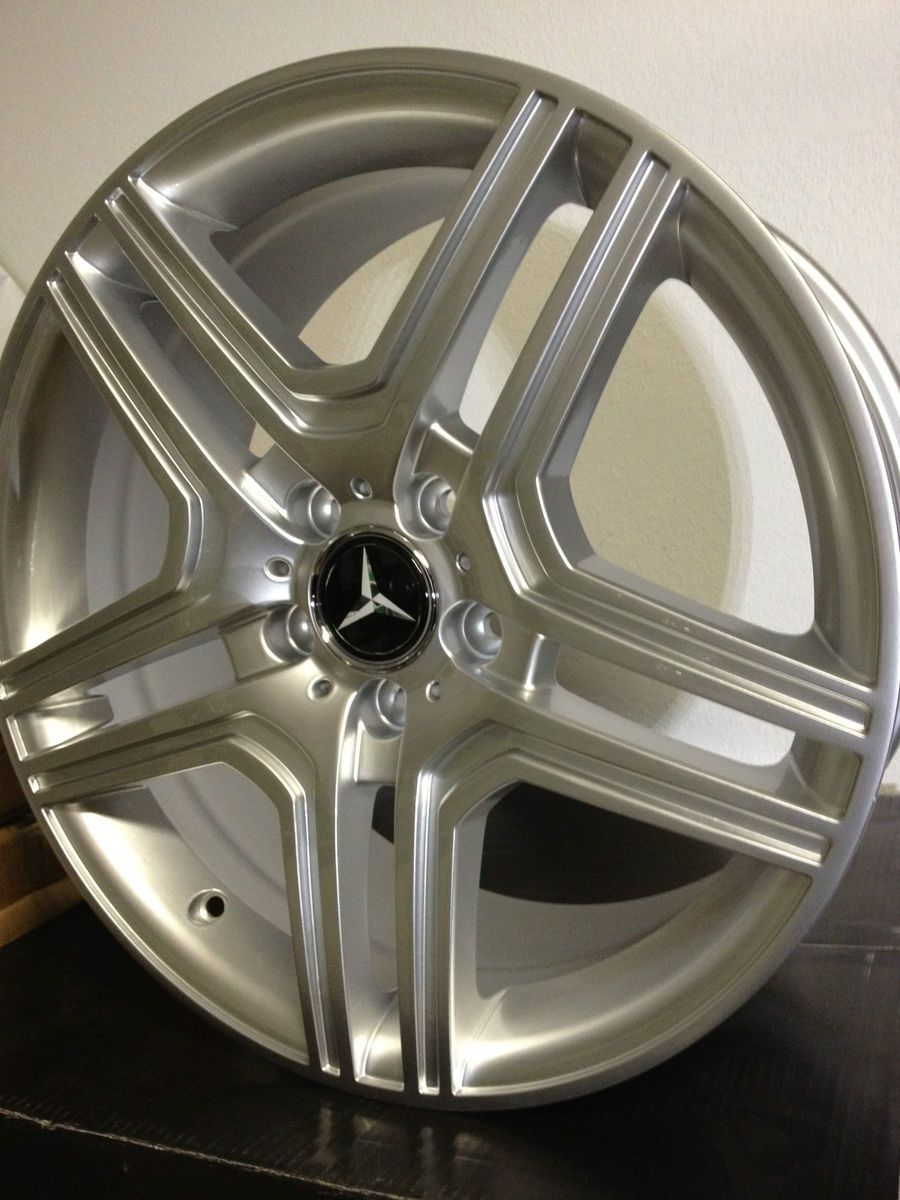 Silver Mercedes AMG Factory OE Wheels Rims C Class 5x112 17x7 5