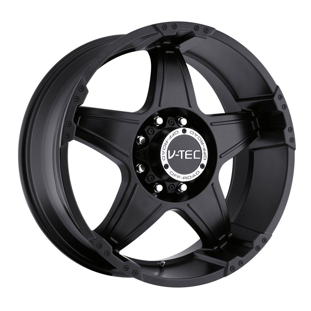 22 inch V Tec Wizard Matte Black Wheels Rim 6x5 5 6x139 7 30 Hummer H3