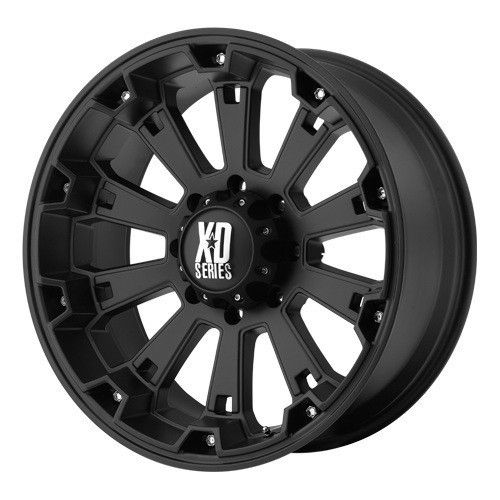 18 inch 18x9 KMC XD Black Wheels Rims 8x170 Ford F 250 350 Excursion