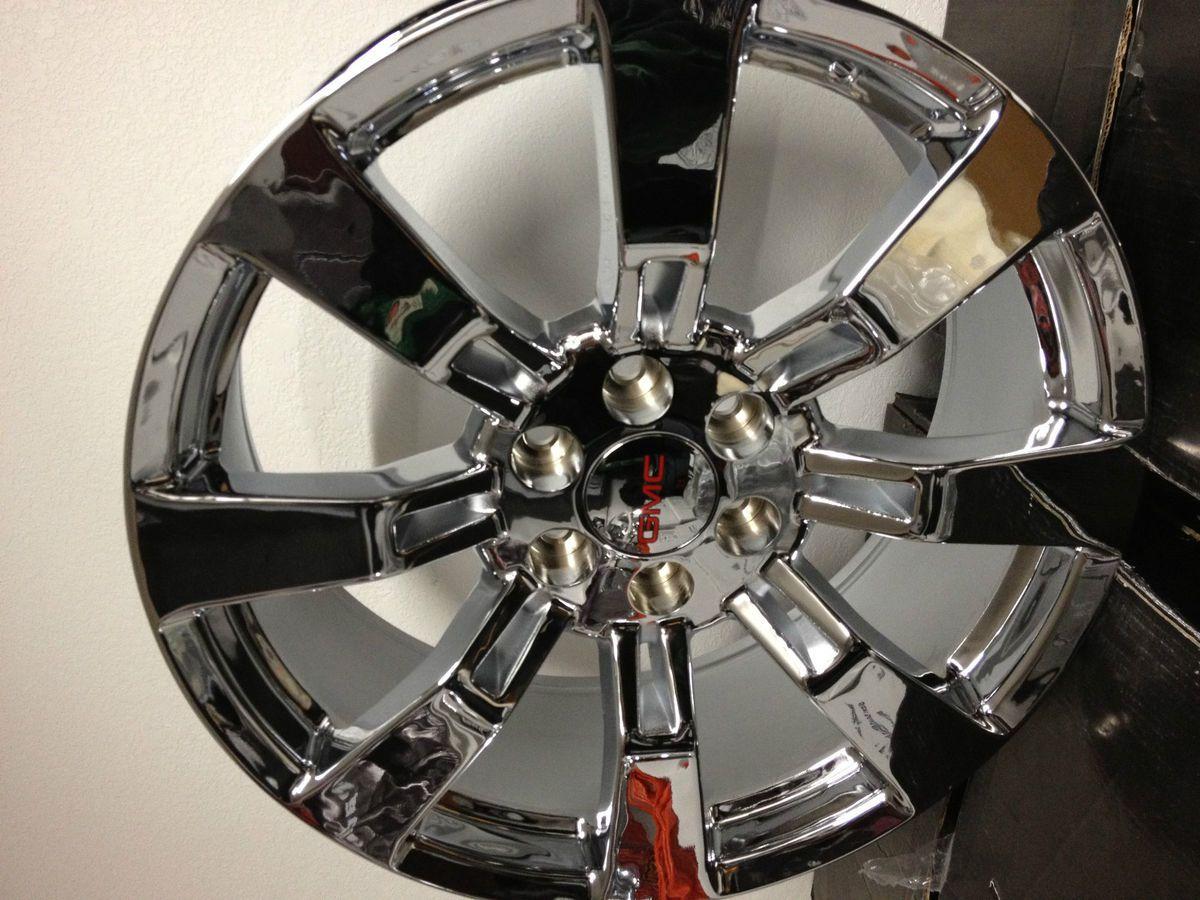 Chrome GMC Sierra Yukon Denali Factory OE GM Accessory Wheels 20 6x5 5