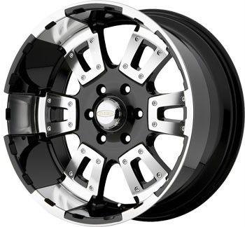 18 inch x10 DIAMO 17 Karat Black Wheels Rims 8x170 Ford F250 F350