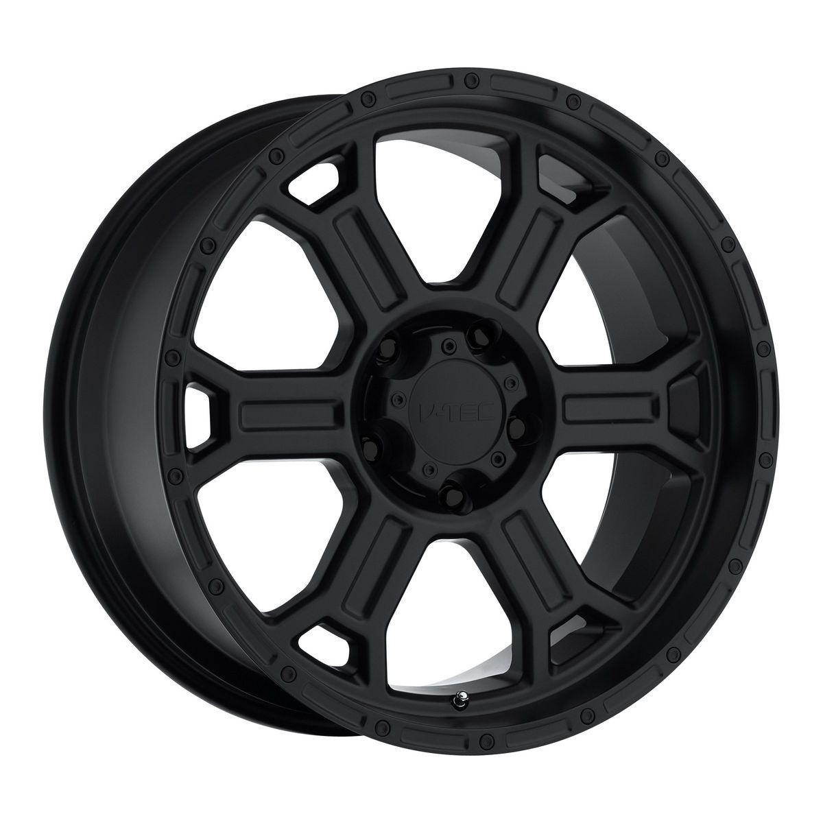 22 inch V Tec Raptor Matte Black Wheels Rims Ford F150