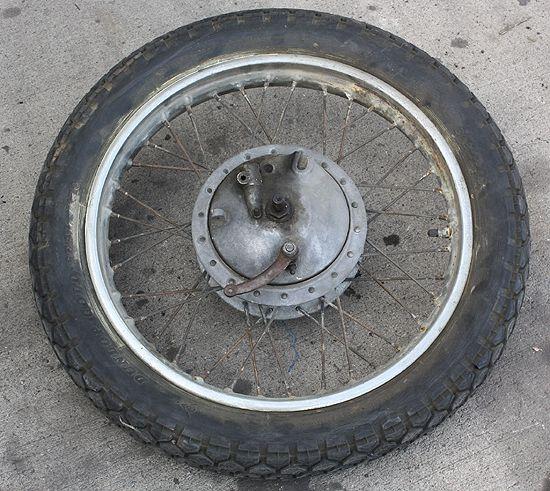 Vintage 1961 Zundapp Sabre 250 DB 202 Elastic Front Wheel Assembly Rim