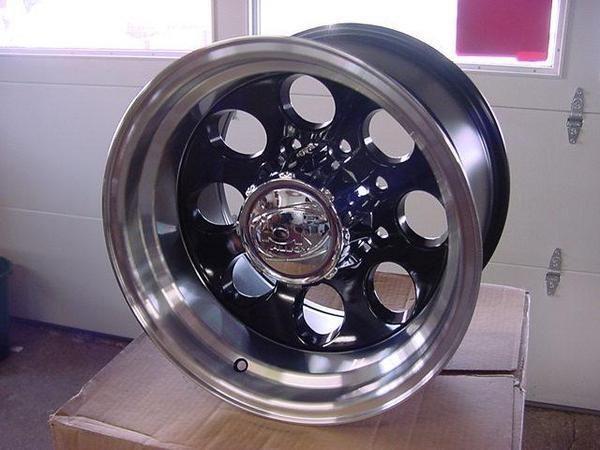 16x10 Black ion Wheel s Dodge Chevy Ford 171 8 6 5 Lug