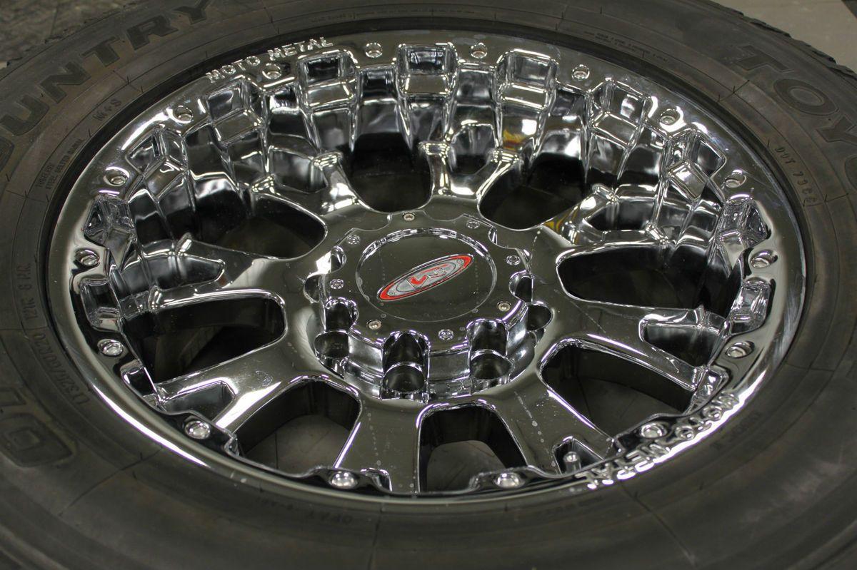 Chrome Ford F250 F350 Superduty Excursion 35 wheels tires rims 18