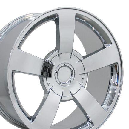 Single 22 Chrome Silverado SS Wheel Rim Fits Chevrolet Tahoe GMC