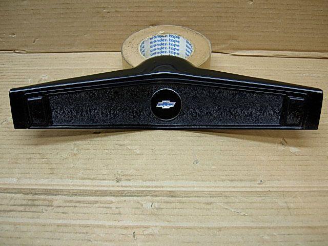 1969 Chevy GM Orig Steering Wheel Black Horn Pad 3939760 69 Camaro