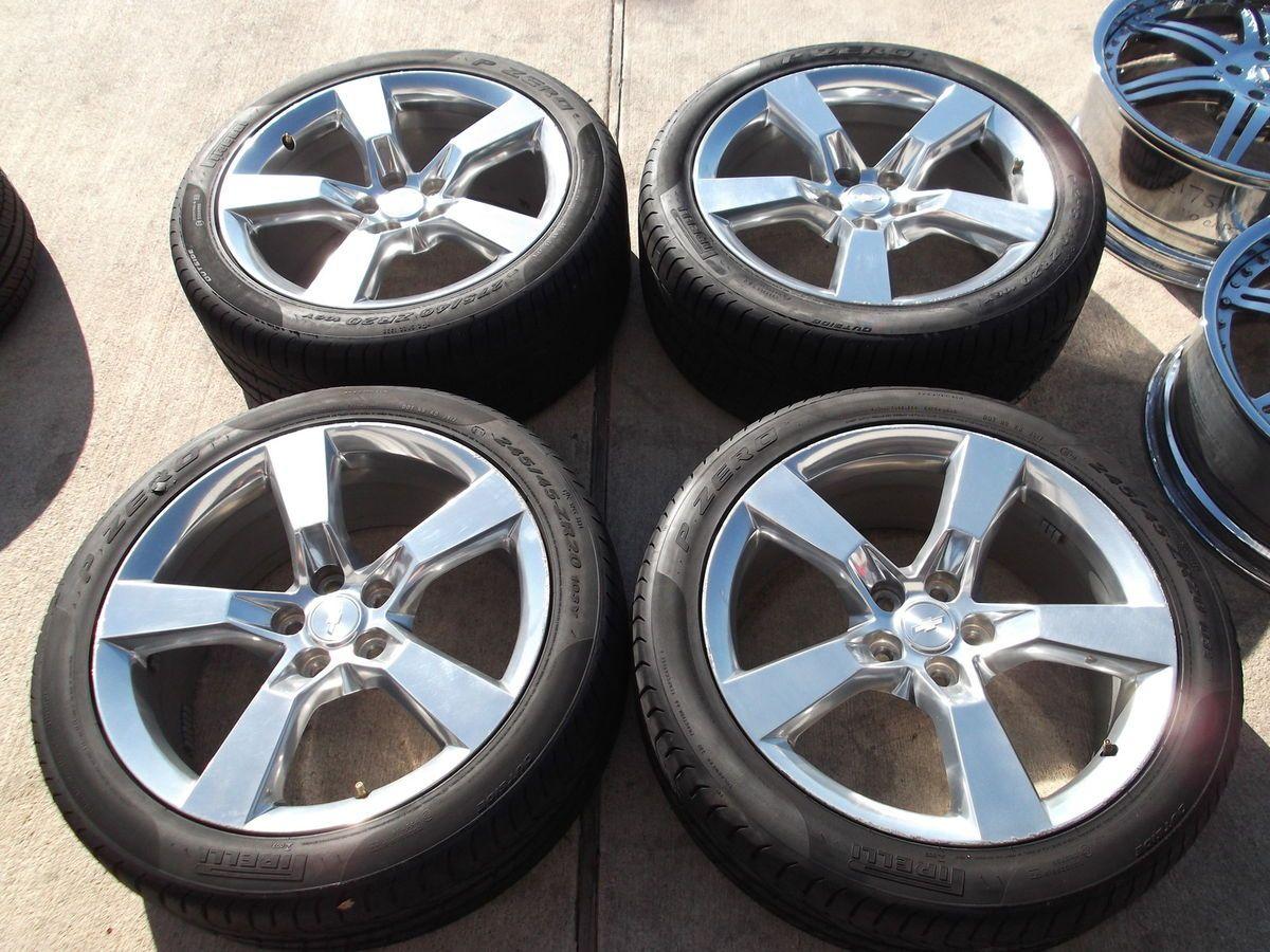 2012 Chevy Camaro Polished Wheels Tires Rims Pirelli 5443 5445