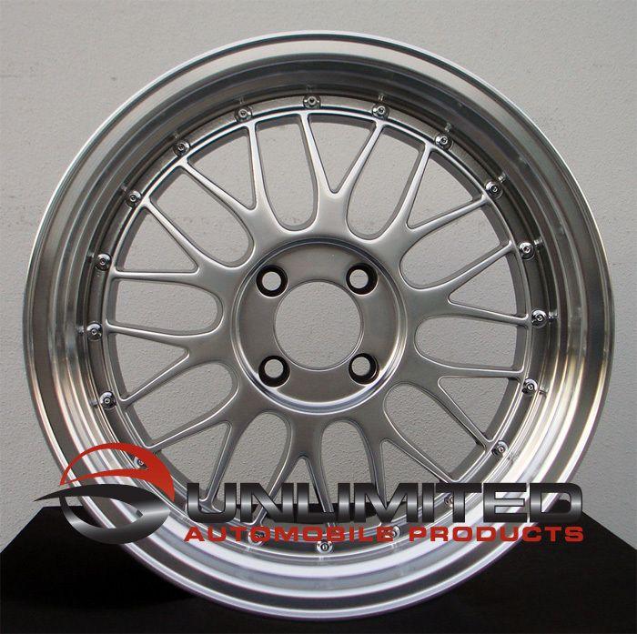 LM Style Hyper Black Wheels Rims Fit Nissan Datsun 240 260 280z
