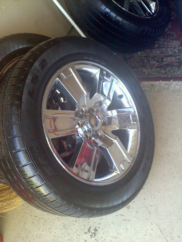 2007 2011 Ford Expedition Factory 20 Chrome Clad Wheel Rim Tire