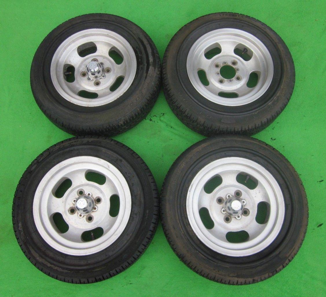 14x6 4x4 5 Vintage US Indy Slot Aluminum Mag Wheel Rim