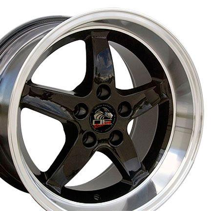 17 9 10 5 Black Cobra Wheels Rims Fit Mustang® 94 04